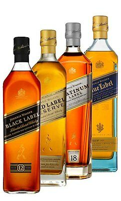 Johnnie Walker The Collection Scotch Whisky Pack 4x200ml  (Boxed)