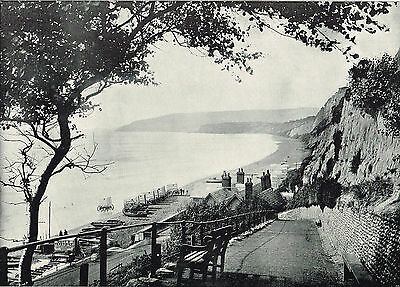 Sandown Isle Of Wight The Bathing Beach 1895 Antique Picture Print #146