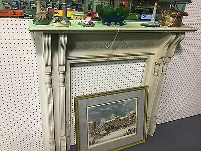 Antique Fireplace Carved Mantel With 4 Corbels  51 X 48 Architectural Salvage