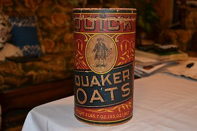 "9 1/2"" Quaker Oats Cardboard early 1900's container"