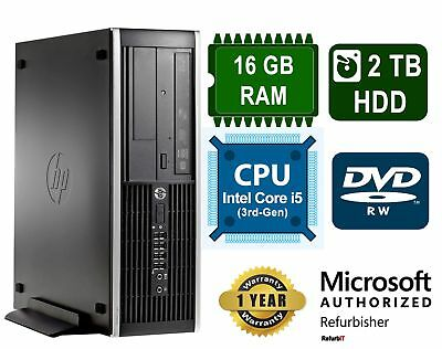 HP Compaq Pro 6300 Desktop, Intel Core i5, 16GB RAM, 2TB HDD, DVD-RW