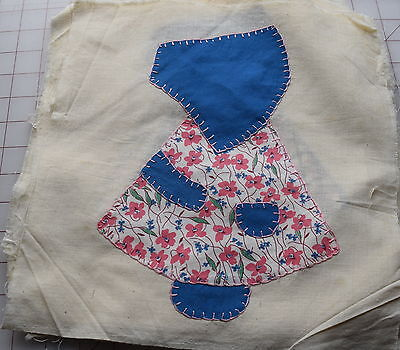 20 1930-40's quilt blocks, Applique Sunbonnet Sue, nice selection of fabrics!