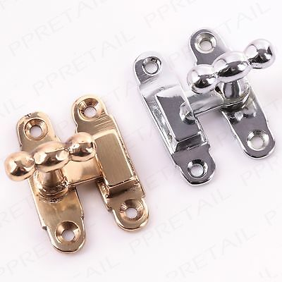 BRASS/CHROME SHOWCASE CATCH LOCK Cabinet/Cupboard Door Thumbturn Show Case Latch