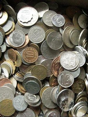 10 lb Mixture world foreign coins, nice varied mix many BU coins