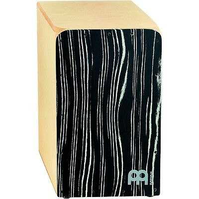 Meinl Woodcraft Collection Snare Cajon Striped Onyx Frontplate Medium LN