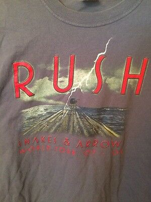 2007 Rush Snakes & Arrows World Tour Concert T Shirt Size L Adult 2007 2008