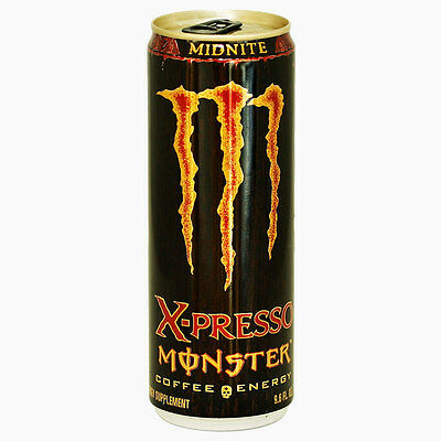 Monster Energy Drink,  X-Presso Monster Midnite, Discontinued And Collectable