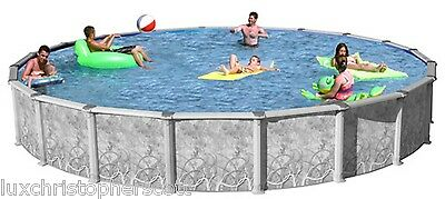 Resin Steel Round 18 X 54 Above Ground Hybrid Swimming Pool Package 50 Year