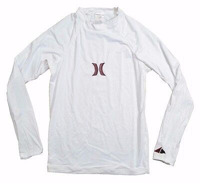 Hurley ONE & ONLY White Ultraviolet Protection 40 Long Sleeve Men's Rash Guard