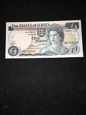 The States Of Jersey 1 Pound Banknote 1976 P11a
