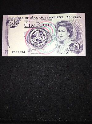 Isle Of Man Government 1 Pound Banknote 1983 P40