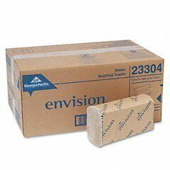 NEW! Envision Multifold Paper Towel 9.2'' x 9.4'' Brown 250/Unit -16 Units/Case