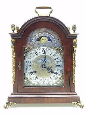 Vintage Walnut Caddy Top Clock James Smith London Moonroller 8 Day Bracket Clock
