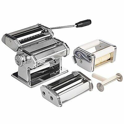 Ravioli Pasta Maker Machine Spaghetti Noodle Stainless Steel Roller Dough Cutter