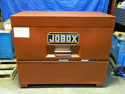 "Jobox Heavy-Duty Piano Box Storage Chest 60"" x 31"" x 50"" Steel Brown 1-682990"