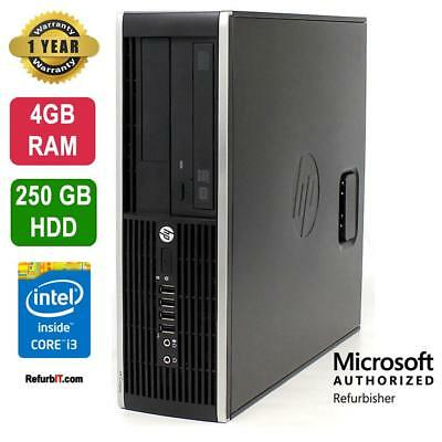 HP Compaq Pro 6300 Desktop, Intel Core i3, 4GB RAM, 250GB HDD, DVD-RW