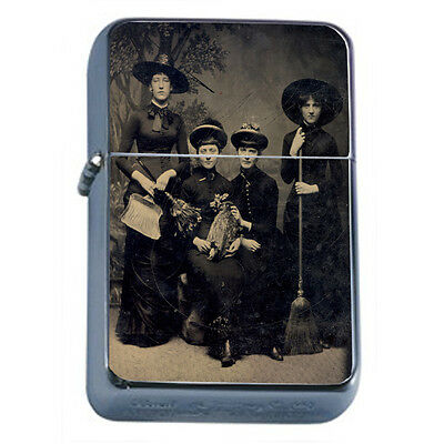 Vintage Witchcraft Witch D1 Windproof Dual Flame Torch Lighter Refillable