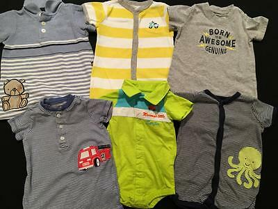 Baby Boys 6 Months Carter's Spring Summer One Piece Outfit Romper  Lot B99