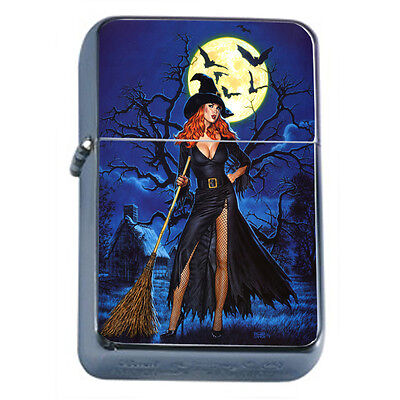 Vintage Witchcraft Witch D8 Windproof Dual Flame Torch Lighter Refillable