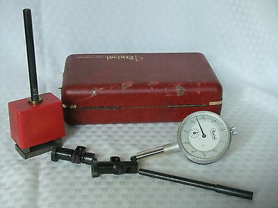 """Central Tool Co. Dial Indiactor Set .001"""" Complete With Case VGC"""