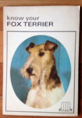 """Vintage Dog Book """"Know Your Fox Terrier"""""""