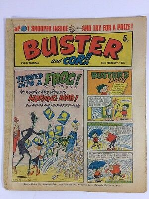 Lot #68 Buster And Cor!! Comic 15th February 1975