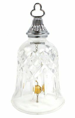 NWT Waterford Crystal and Silver-Tone Bell, Gold Bead NEW