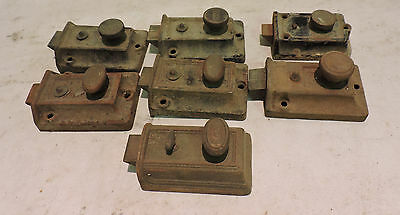 Lot Of 7 Antique Thumb Door Latch Locks Russwin Yale Independent Ilgo