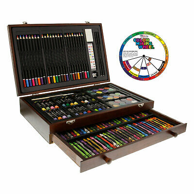 143-Piece Art Drawing Set Artist Sketch Kit Paint Pencil Pastel Wood Case Box