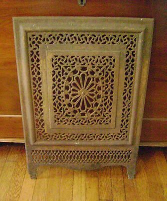 Antique/Vintage Fireplace Screen - Ornate Cast Iron