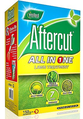 Aftercut All-In-One Lawn Feed, Weed And Moss Killer, 150 Sq M 5.25 Kg