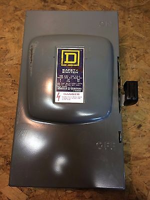 Square D D223N General Duty Safety Switch Disconnect 100 Amp 240V Fusible Box