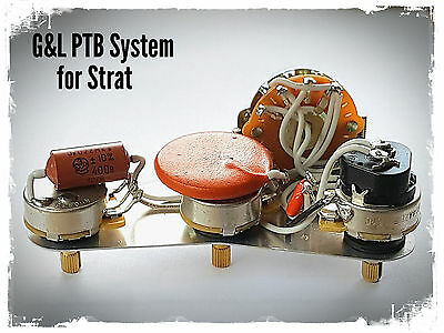 Fender Stratocaster Strat G&L Legacy wiring upgrade kit - PTB System + Add Neck
