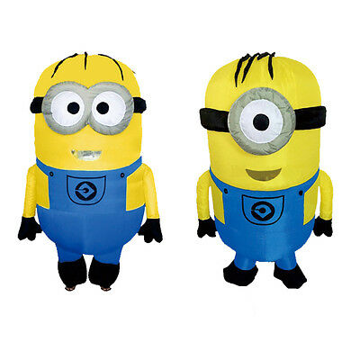 Despicable Me Inflatable Minion Costume Adult Halloween Cosplay Mascot Outfit