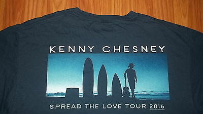 2016 Spread the Love Tour KENNY CHESNEY T-shirt LARGE Country Rock mens womens