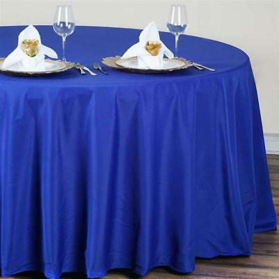 Royal Blue 120 in. Polyester Seamless Tablecloth~Wedding~NEW