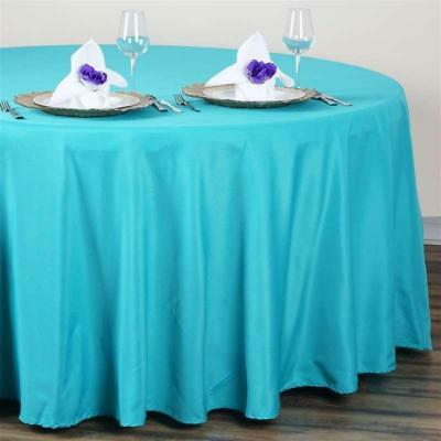Turquoise 120 in. Polyester Seamless Tablecloth~Wedding~NEW
