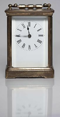 Antique Swiss Made Carriage Clock in Brass Case, Excellent Working Condition!