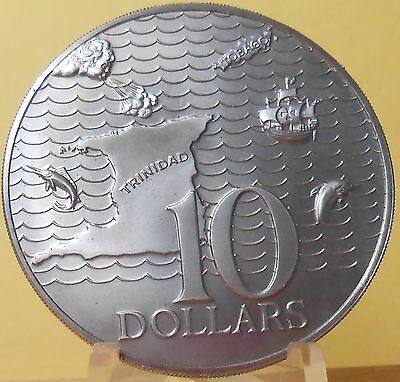 1974 Trinidad & Tobago 10 Dollar Coin