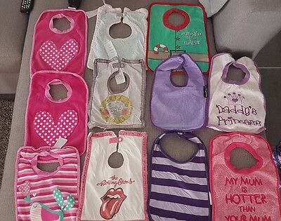 Larger size bulk lot of 11 baby bibs