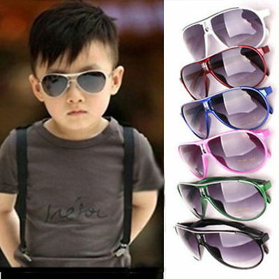 Child Cool Children Boys Girls Kids Plastic Frame Sunglasses Goggles Eyewear DG