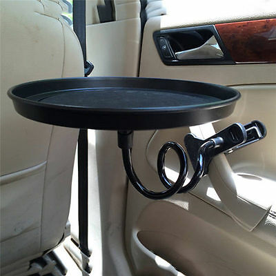 360° Auto Car Swivel Mount Holder Travel Drink Cup Coffee Table Stand Food Tray