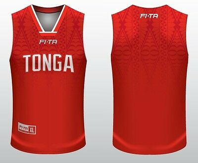 Tonga Mate Ma'a 2017 Rugby League Players Basketball Singlet Sizes S-3XL! BNWT's