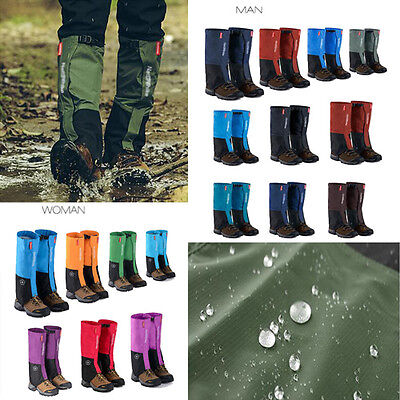 Waterproof Walking Snow Leggings Trekking Gaiters Gators Boot Hiking Climbing