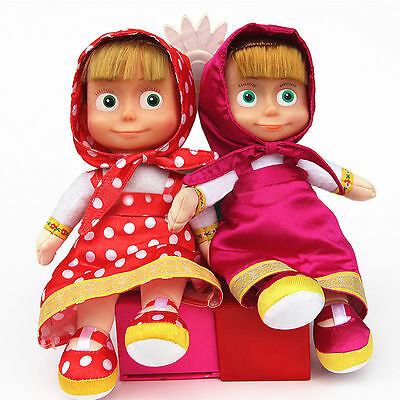 Sale Masha and The Bear 23cm Masha Doll Can Talk and Sing Kids Girls Toys Doll