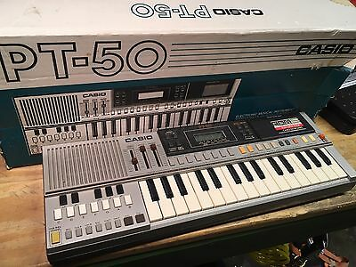 Casio PT-50 vintage keyboard synth with ROM pack
