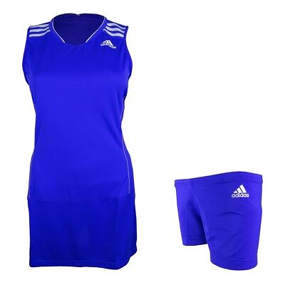 Adidas Kleid BT CLIMA DRESS Badmintonkleid blau Damen NEU UVP 50