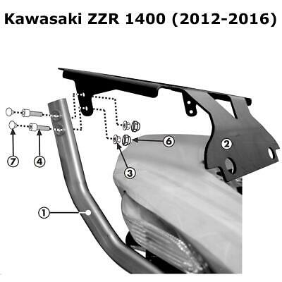Kappa KZ4106 Specific Rear Top Box Rack - Kawasaki ZZR 1400 (2012-2016)
