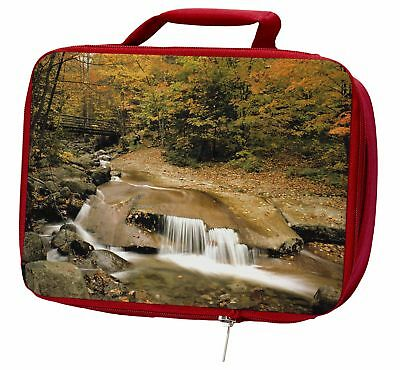 Autumn Waterfall Insulated Red Lunch Box, W-4LBR