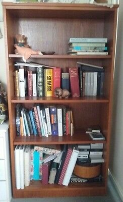 Solid Timber 4-shelf bookcase